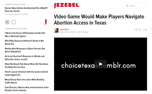 Choice: Texas in Jezebel